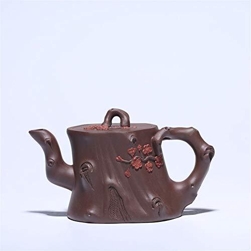 Teapot Celebrated Hand-Plum Tree Stump teapot Purple Clay Tea Tea Sets (Color : Purple mud)