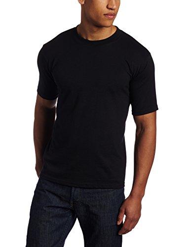Soffe Men's Midweight 50/50 Cotton T-Shirt, Black, Medium