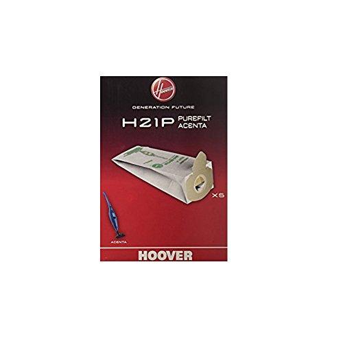 EuroStore07 H 21 P 5 Sacchi Sacchetti ASPIRAPOLVERE Hoover ACENTA PUREAIR in Carta Bianca