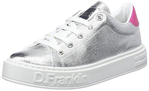 D. Franklin Gumme Metal, Zapatillas para Mujer, Plateado (Silver), 36 EU