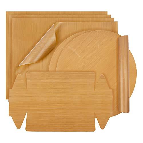 BINMAL® Dauerbackfolie (7er Set) - Zero Waste Backpapier - BPA FREI - spülmaschinenfest & wiederverwendbar - PTFE-Beschichtung - bis 260 Grad Celsius erhitzbar