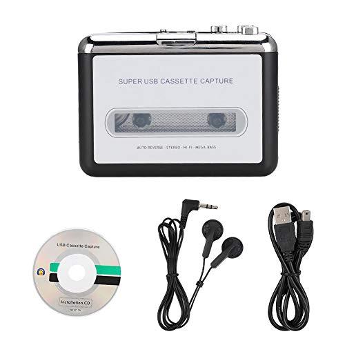 ciciglow Convertitore da Nastro a MP3, Lettore di Cassette Musicali Audio Stereo, Lettore Musicale Audio Stereo per Gli Amanti della Musica