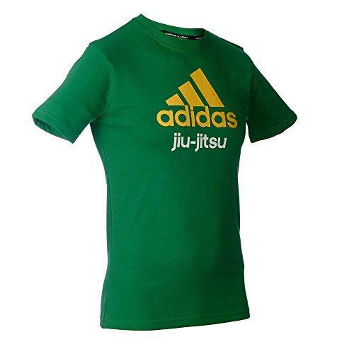 Adidas Cuommunity line T-shirt BJJ Vert/jaune