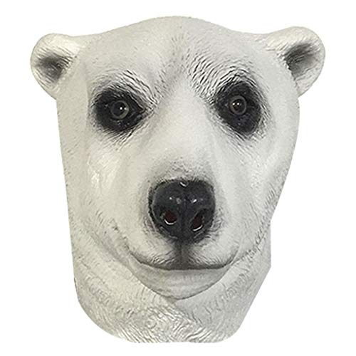 HX Maschera in Lattice Testa di Animale Maschera in Lattice Testa di Animale novità Halloween Costume Party Maschera di Orso Polare Maschera di Carnevale per Adulti