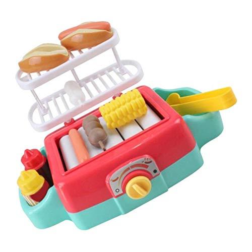 perfeclan Küchenspielzeug Tischgrill Rollenspiel Spielzeug Kinder Pädagogisches Spielzeug Lernspielzeug