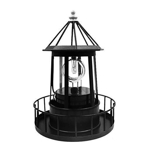FuYouTa Solar Garten Leuchtturm LED Solar Rotierende Leuchtturm Licht Solar Garten Lichter Outdoor Garten Dekoration Laterne für Weg Terrasse Garten Hof