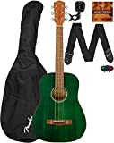 Fender FA-15 3/4 Scale Kids Steel String Guitar Learn-to-Play Bundle with Gig Bag, Tuner, Strap, Picks, Fender Play Online Lessons, and...