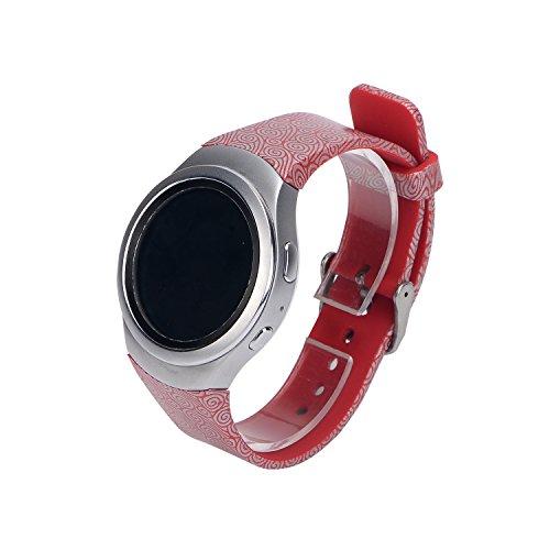 Yikamosi Compatible con Samsung Gear S2 Correa,de Silicona Suave Correa de Reloj Respirable Reemplaz Atar con Correa para Samsung Gear S2 SM-R720/R732(Large-Color17)