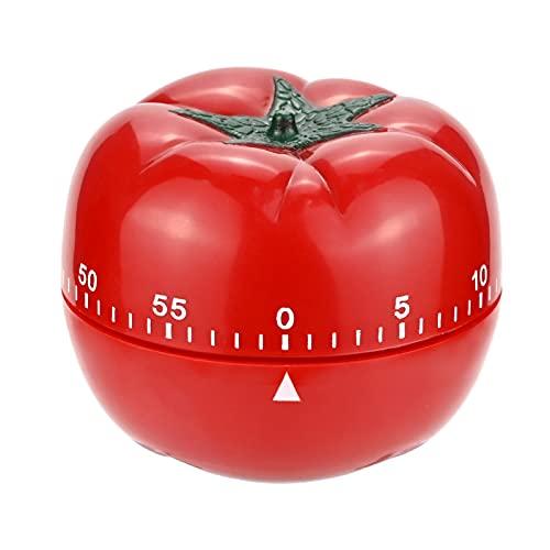 Timer Pomodoro, Timer Da Cucina Meccanico Manuale Sveglia Da 60 Minuti, Timer Da Cucina Creativo, Timer Per Il Conto Alla Rovescia Di Cottura Multifunzione (Rosso)