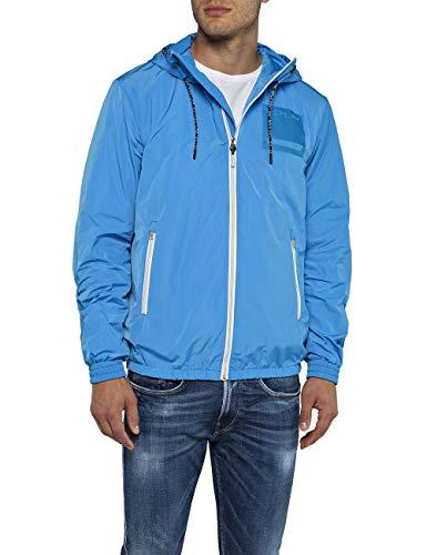 Replay Herren M8966B.000.83110 Jacke, Blau (Sky 692), Large (Herstellergröße: L)
