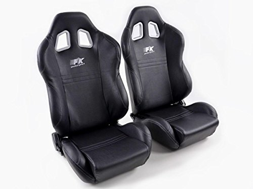 FK Automotive FK Sportsitz Autositz Halbschalensitz Set New York Rennsitz Motorsport-Optik FKRSE010021