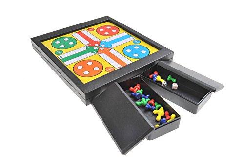 Quantum Abacus Magnetisches Brettspiel 2-in-1 (Premium Größe): Ludo, Leiterspiel / Schlangen und Leitern / Snakes and Ladders - magnetische Spielsteine, 23cm x 20,5cm x 2,7cm, Mod. SC6706 (DE)