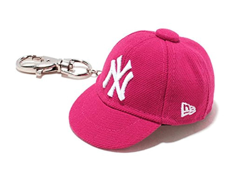 ニューエラ キャップキーホルダー ニューヨーク?ヤンキース 11117965 ブライトローズ/白 59FIFTY CAP KEYHOLDER Newyork Yankees bright rose/white