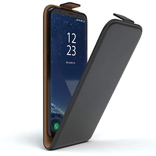 EAZY CASE Hülle kompatibel mit Samsung Galaxy S8 Hülle Flip Cover zum Aufklappen, Handyhülle aufklappbar, Schutzhülle, Flipcover, Flipcase, Flipstyle Case vertikal klappbar, aus Kunstleder, Schwarz
