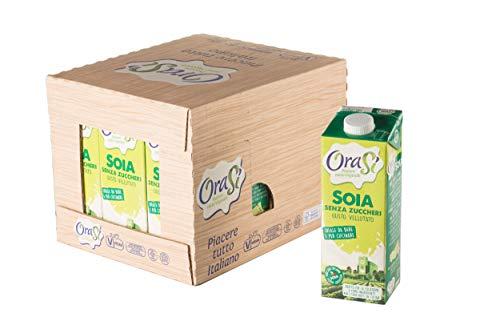 Orasì Bevanda di Soia Senza Zuccheri, 1 litro, 12 unità