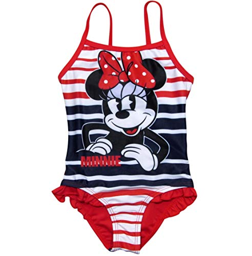 Minnie Mouse Badeanzug Kollektion 2018 Badesachen 92 98 104 110 116 122 128 Schwimmbekleidung Bademode Sommer Rot (Rot, 122-128)