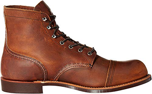 Red Wing Heritage Men's Iron Ranger Work Boot, Copper Rough and Tough, 9.5 D US