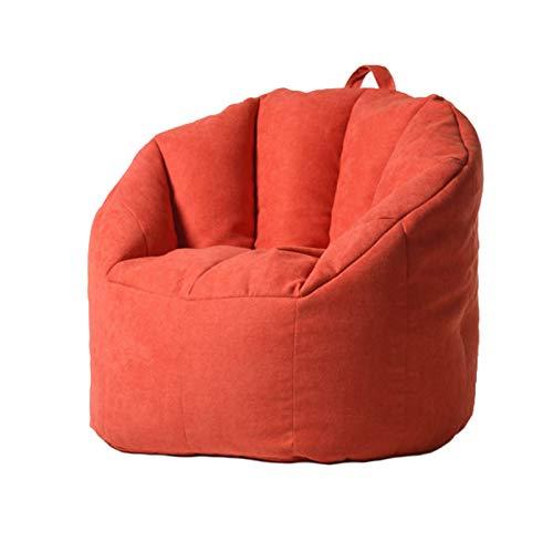 AGVER Sitzsack - Ohne Füllung, Kann Mit Kissen, Plüschtieren, Decken Gefüllt Werden Sitzsack Stuhlbezug Aus Polyester-Lintergewebe,Orange red