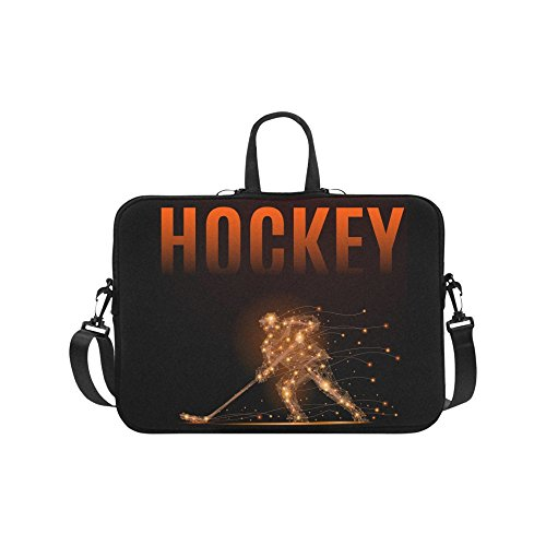 Laptop Sleeve Case 11 11.6 Inch Colorful Cool Hockey Player Resistant Neoprene Laptop Sleeve Notebook Computer Pocket Case Tablet Briefcase Carrying Bag Laptop Shoulder Bag