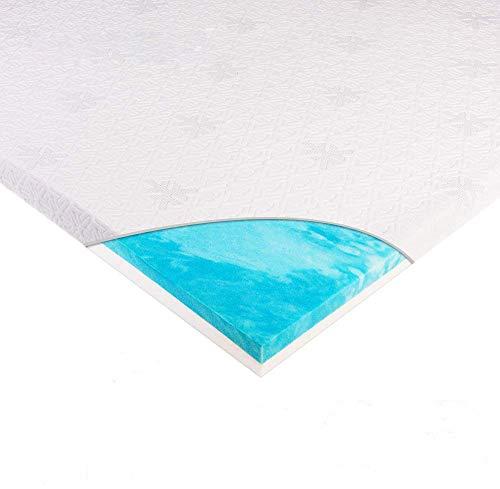 WAVVE Topper Memory Foam 140x200cm, Una Piazza, Spessore 6cm, Topper Materasso Morbido, Coprimaterasso in Memory Foam per Migliorare Materasso Duro