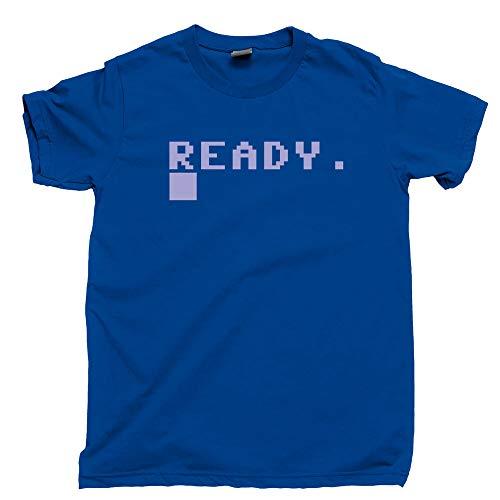 C64 BASIC Screen Ready Message T-shirt, Blue