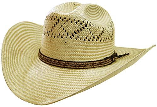 Modestone 2 Tone Ferrol Official Bullrider Bangora Straw Chapeaux Cowboy