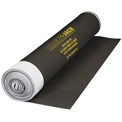 Roberts Black Jack 100 sq. ft., 28 ft. x 43 in. x 2.5 mm Premium 2-in-1 Underlayment for Laminate and Engineered Wood Floors