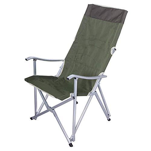 SZP Accoudoir extérieur Chaise de Plage, Chaise de Camping en Aluminium, Chaise Pliante Portable, adapté pour Les Loisirs en Plein air, Voyage en Famille, Auto-Conduite de Sortie,Green