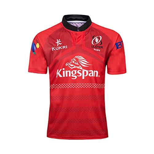 Rugby Jersey 2019 Giappone Coppa del Mondo Ulster Uomo Manica Corta Tuta Fan Sport Camicia Ricamata Abbigliamento Professionale Traspirante Attrezzatura Supporter Rosso M