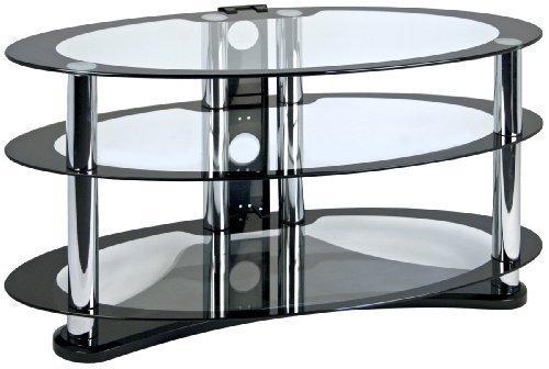 """Centurion GT8 supporto di vetro,con design ovale e contemporaneo a bordi neri,per Plasma/LCD/OLED da 26""""-52"""""""