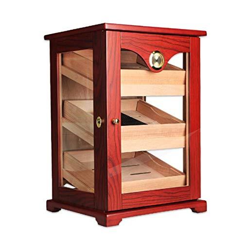 Cigar Humidor Mellow Cedar Humidification Box Skicka företagskunder Vän Mannen gåva, 490x290x334mm Röktillbehör (Color : Red)