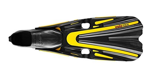 Mares Volo Race Full Foot Dive Fins (Yellow, 6.5-7.5)