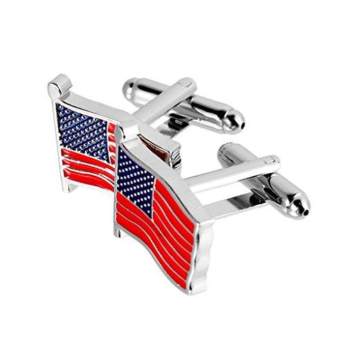 Colcolo Amerikanische Patriotische Herren Manschettenknöpfe