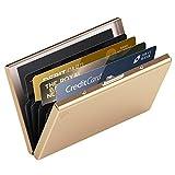 hochwertiges Edelstahl Kartenetui | Ideal als Kreditkarten & Visitenkarten Etuis, RFID Blocker,...