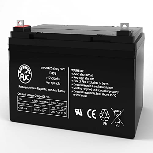 AJC Battery Compatible with Interstate DCM0035 12V 35Ah UPS Battery