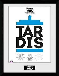 1art1 Doctor Who Clara Painting Gerahmtes Poster F/ür Fans Und Sammler 40 x 30 cm