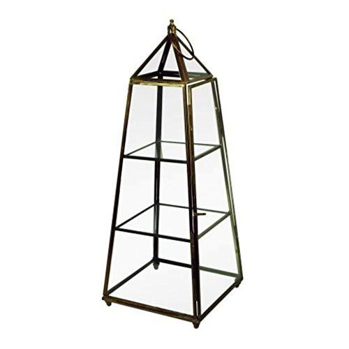 CAPRILO Elegante Vitrina Decorativa de Cristal y Metal