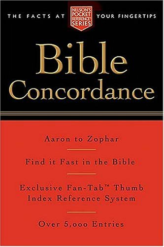 Pocket Bible Concordance Nelsons Reference