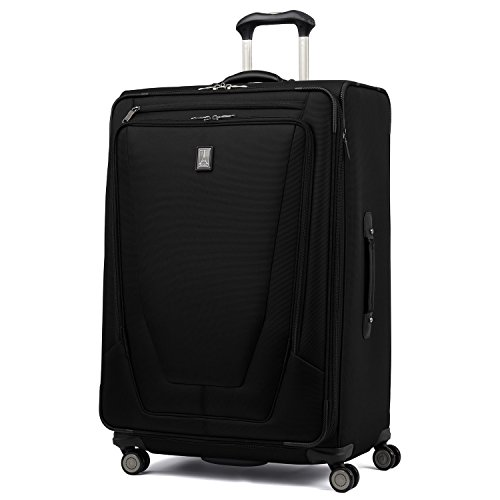 Travelpro Luggage Crew 11 29' Expandable Spinner Suitcase with Suiter, Black
