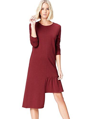 Marca Amazon - find. Vestido Mujer, Rojo (Red), 38, Label: S