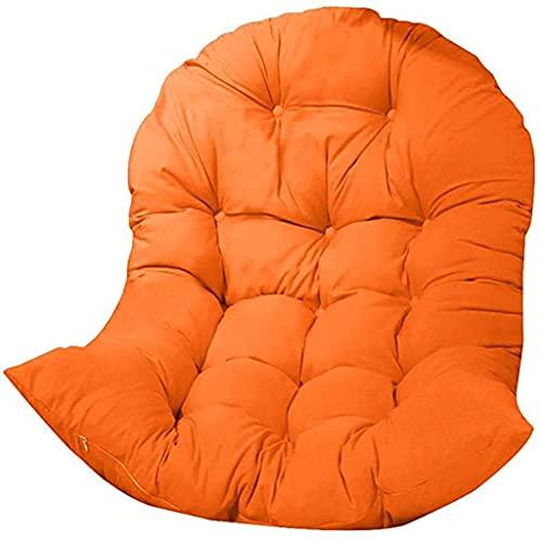 HYCy Swing Hanging Basket Sitzkissen, Round Chair Pad Verdickung Swing Chair Kissen, für Patio Garden (nur Kissen), Orange