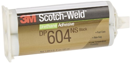 3M Scotch-Weld Urethane Adhesive DP604NS Black, 50 mL (Pack of 1)