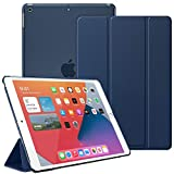 Supveco iPad 10.2 Case / iPad 8th Generation Case 2020 & iPad 7th Generation Case 2019, Slim Lightweight iPad 8 Case / iPad 7 Case with Translucent Back Cover for New iPad 10.2 Inch 2020&2019, Blue
