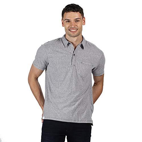 Regatta Polo 100% Coton Mando boutonné au Cou et avec Une Poche Poitrine T-Shirts Vests Homme, Rock Grey, FR : 2XL (Taille Fabricant : XXL)
