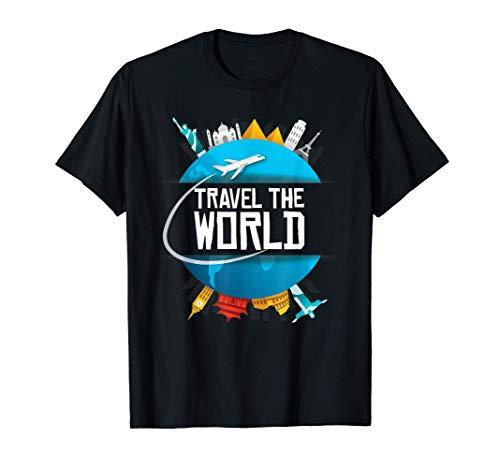 Viaje alrededor del mundo Regalo para el viajero Camiseta