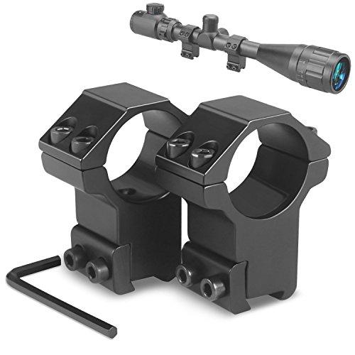 2PCS Barrel Mount 1/'/' Ring Scope Picatinny Rail Adapter For 12 Gauge Shot Gun #7