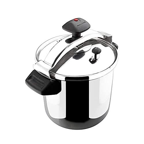 MAGEFESA INOXTAR Olla a presión rápida, Acero Inoxidable 18/10, Apta para Todo Tipo de cocinas, Incluido inducción. … (6L)
