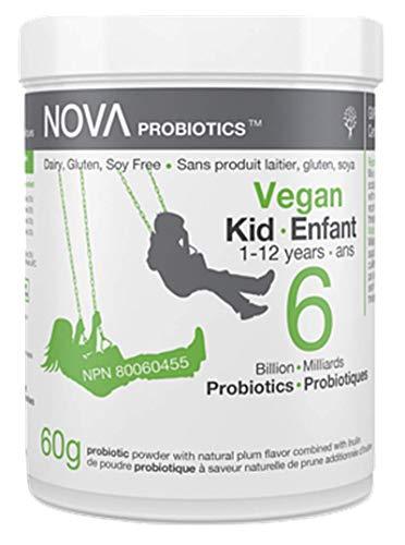 VEGAN Kid/Enfant 1-12 years - 6 Billion Probiotics per Scoop - No Refrigeration Required