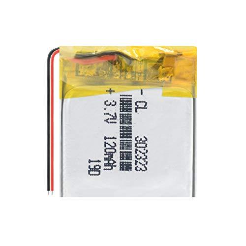 Dilezhiwanjuwu 302323 120mAh 3.7V 1pcs batería de polímero de Litio, Bluetooth MP3 MP4 Reloj Inteligente Tarjeta inalámbrica Grabadora de Audio Celda Recargable