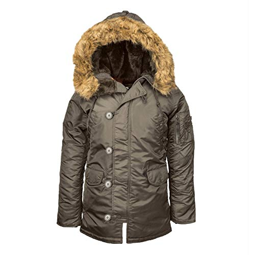 ALPHA INDUSTRIES Damen N-3B Parka - grau - X-Large